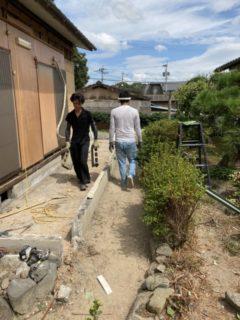 飯塚市、借家原状復旧に伴う減築工事