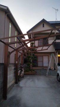 台風9号、10号の影響による撤去工事