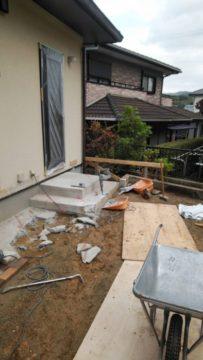 福岡市東区、増築工事に伴う解体